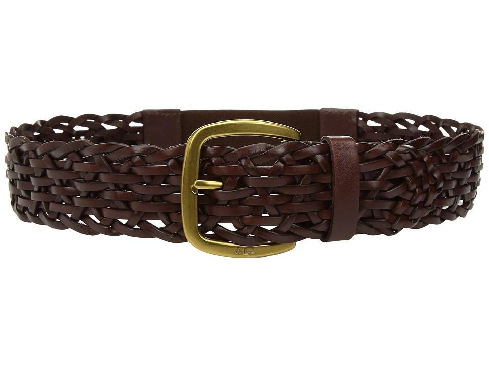 LAUREN Ralph Lauren Stretch Braided Belt (Brown) Women