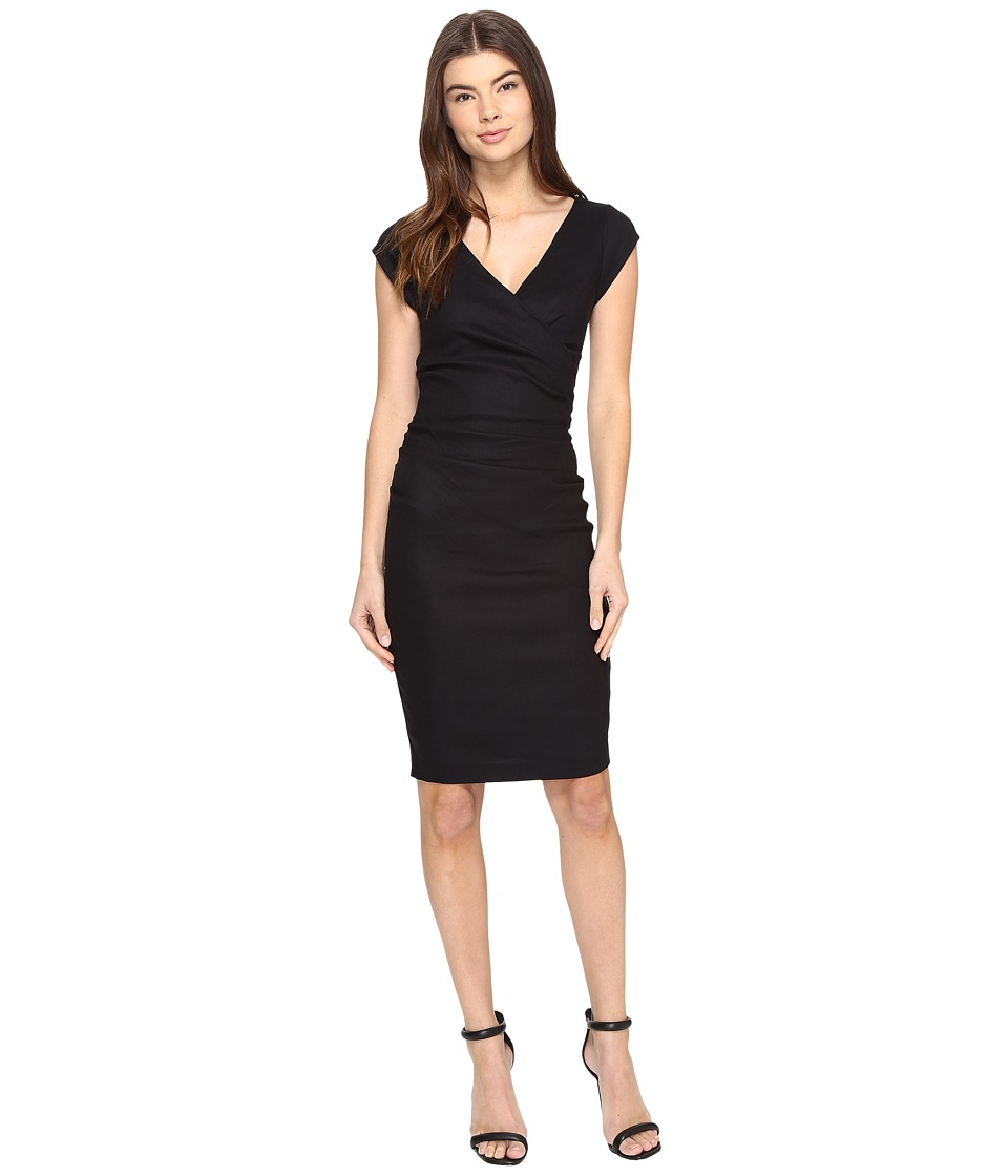 Nicole Miller Linen Beckett Dress (Black) Women