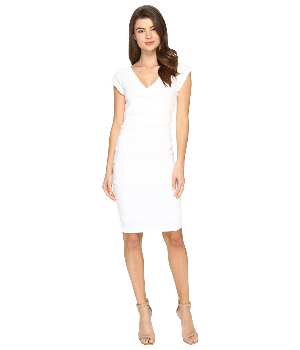 Nicole Miller Linen Beckett Dress (White) Women