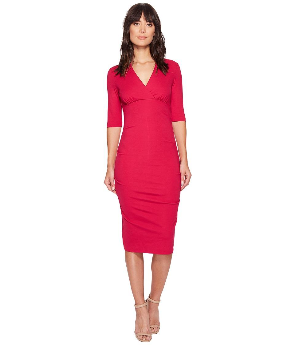 Nicole Miller Joss Ponte Dress (Fuchsia) Women