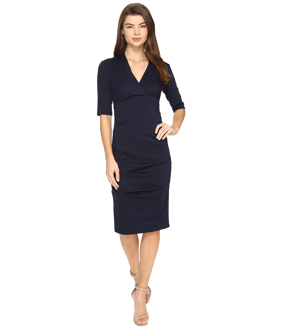 Nicole Miller Joss Ponte Dress (Navy) Women