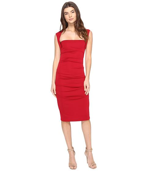 Nicole Miller Sleeveless Jersey Tuck Dress