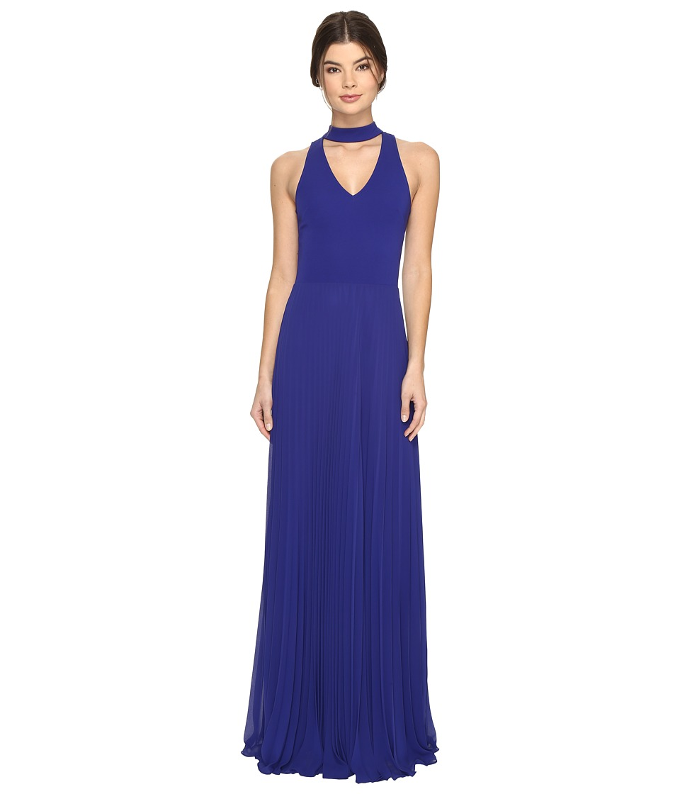 Nicole Miller Blair Pleated Gown (Royal) Women
