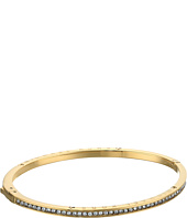 Michael Kors - Logo Channel Set Pave and Tone Hinged Bangle Bracelet