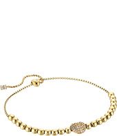 Michael Kors - Pave Hearts Tone and Light Colorado Crystal Bead Slider Bracelet
