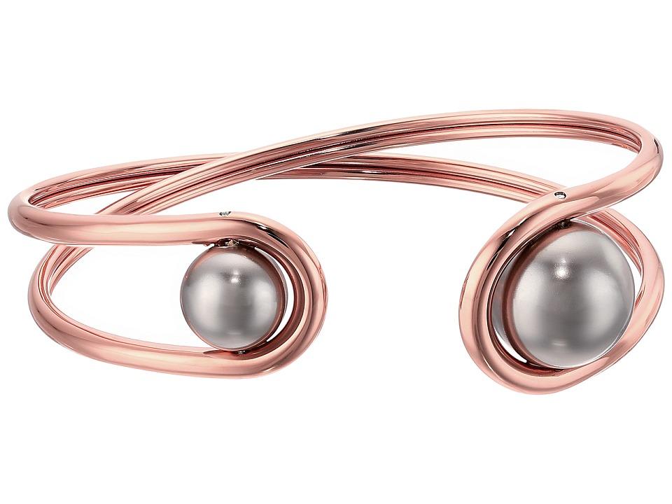 Michael Kors - Pearl Tone and Grey Pearl Flex Bracelet (Rose Gold) Bracelet