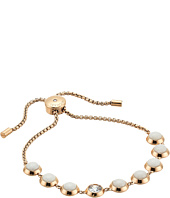 Michael Kors - Tone Crystal and White Jade Slider Bracelet