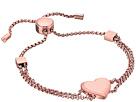Tone Heart Slider Bracelet
