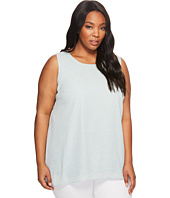 Vince Camuto Specialty Size - Plus Size Sleeveless Zen Pebbles High-Low Hem Blouse