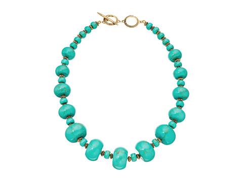LAUREN Ralph Lauren Graduated Rondell Beaded Collar Necklace - Turquoise