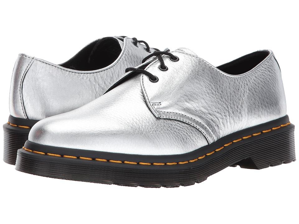 Dr. Martens 1461 Metallic 3-Eye Shoe (Silver Santos) Women