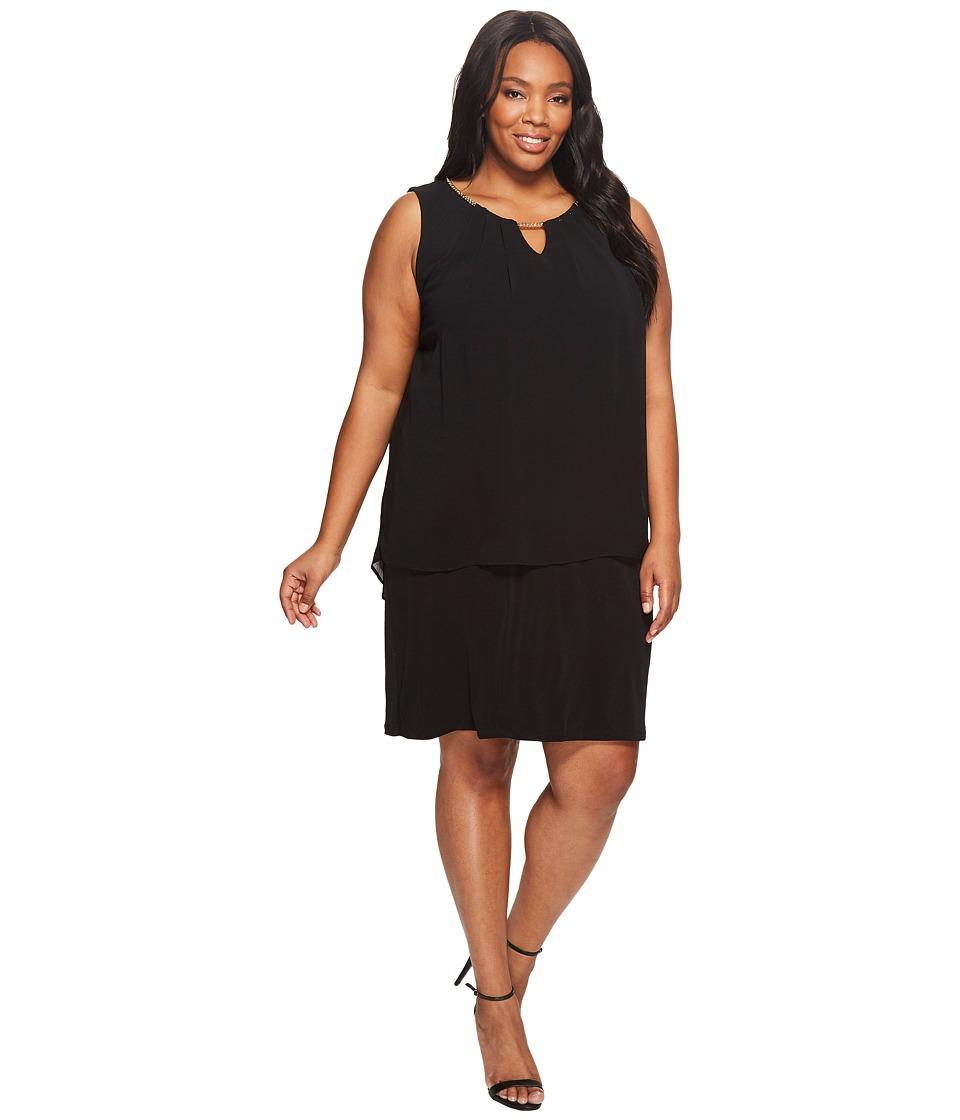 Calvin Klein Plus - Plus Size Sleeveless Pleat Dress with Chain