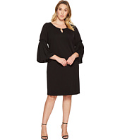 Calvin Klein Plus - Plus Size Flutter Sleeve Dress with Hardware