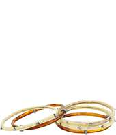 LAUREN Ralph Lauren - Silver and Bone Five Set Multi Bangle Bracelet