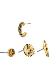 LAUREN Ralph Lauren - Set of 4 Metal Studs Earrings