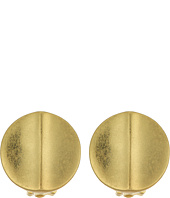 LAUREN Ralph Lauren - Round Metal Disk Button Earrings