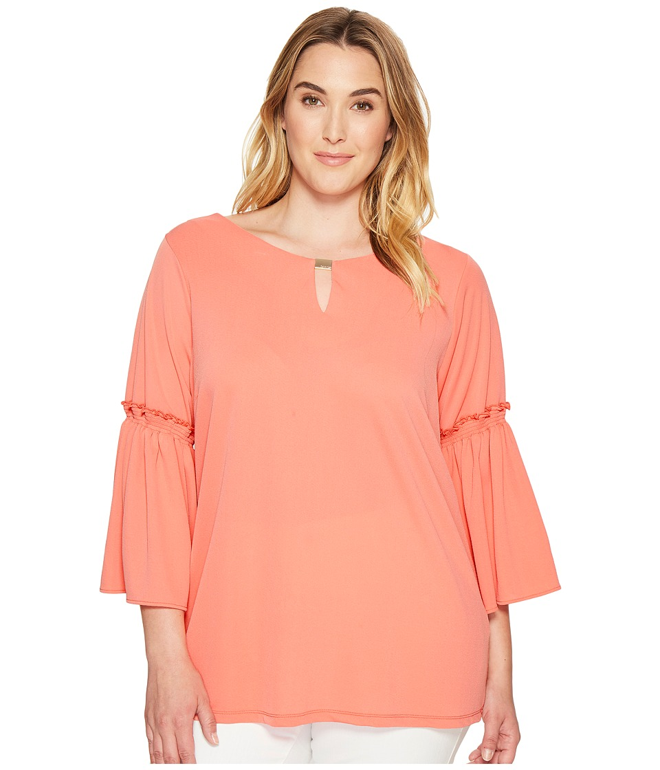 Calvin Klein Plus Calvin Klein Plus - Plus Size Flutter Sleeve Top with Hardware