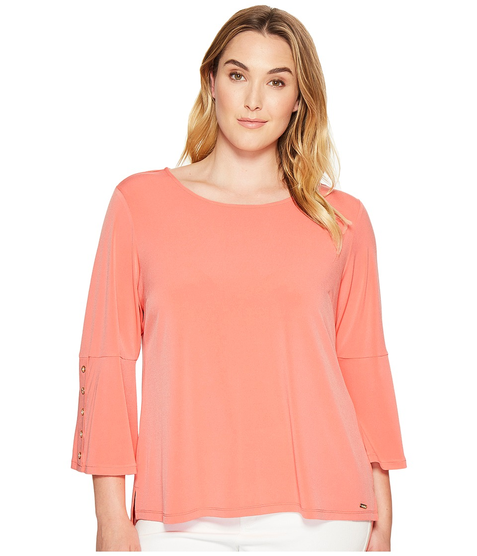 Calvin Klein Plus Calvin Klein Plus - Plus Size 3/4 Sleeve Top with Grommet Hardware