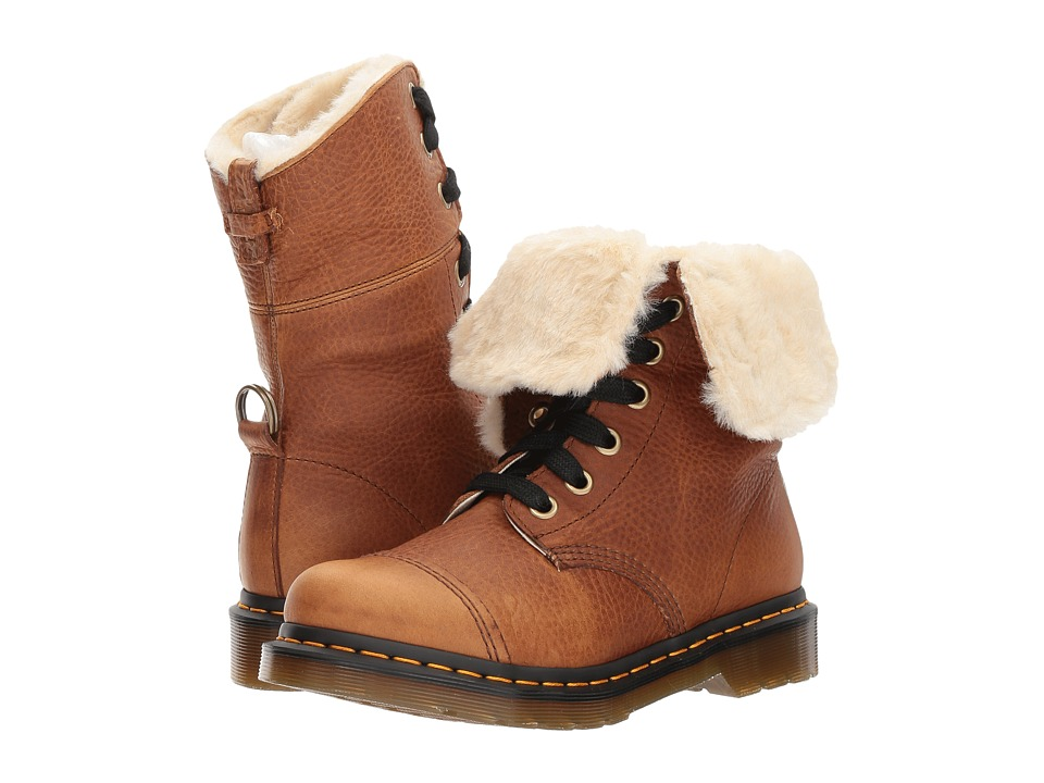 Dr. Martens Aimilita FL 9-Eye Toe Cap Boot (Tan Grizzly) Women