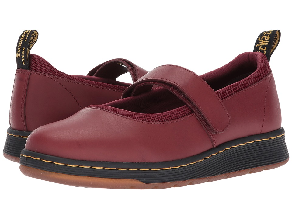Dr. Martens Askins Mary Jane Shoe (Cherry Red Temperley/Cherry Red Sport Spacer Mesh) Women