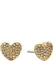 Michael Kors - Pave Hearts Tone and Light Colorado Crystal Heart Stud Earrings