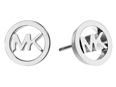 Michael Kors Logo Tone Stud Earrings - Silver