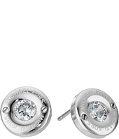 Michael Kors - Tone and Crystal Logo Stud Earrings
