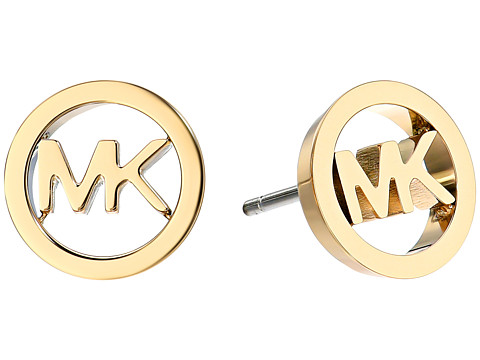 Michael Kors Logo Tone Stud Earrings - Gold