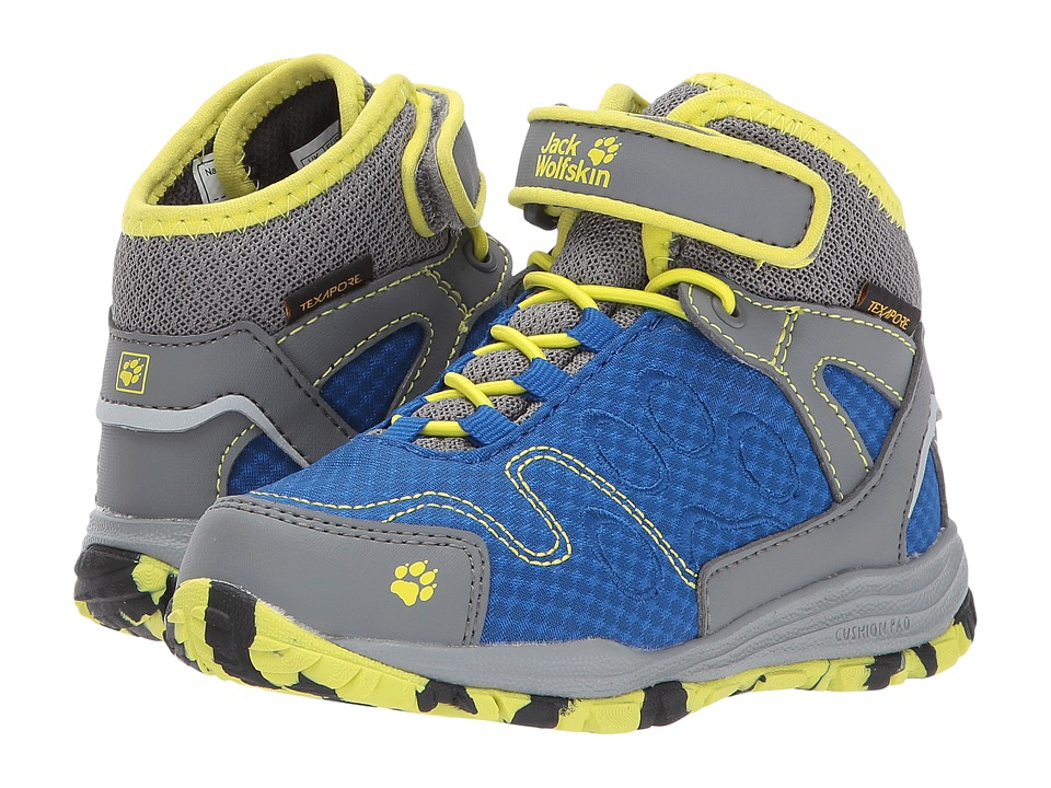 Jack Wolfskin Kids Portland Texapore Mid (Toddler/Little Kid/Big Kid) (Vibrant Blue) Kids Shoes