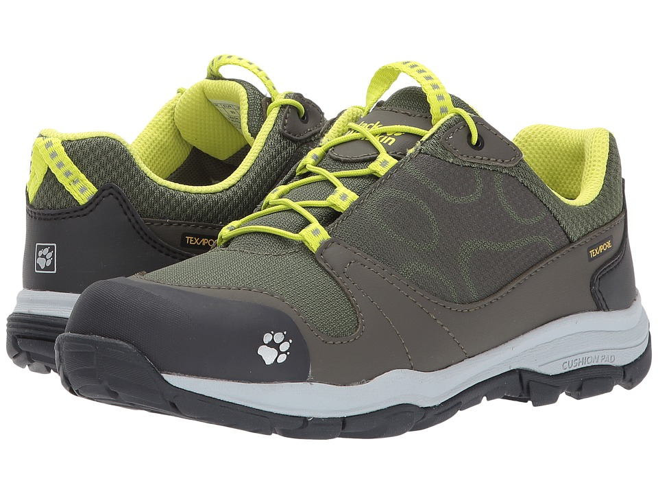 Jack Wolfskin Kids Akka Waterproof Low (Toddler/Little Kid/Big Kid) (Woodland Green) Boys Shoes