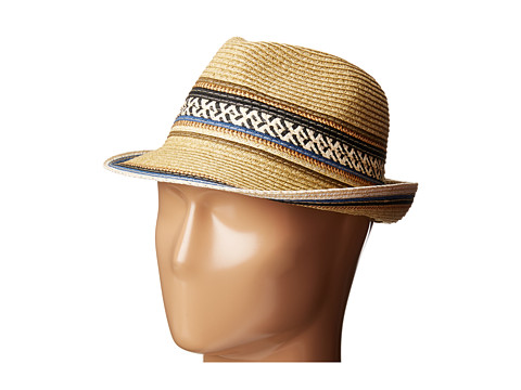 Steve Madden Fedora with Tribal Band - Neutral