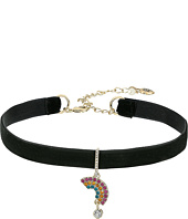 Betsey Johnson - Pave Rainbow Charm Choker Necklace