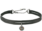 Pave Smile Charm 2 Row Choker Necklace