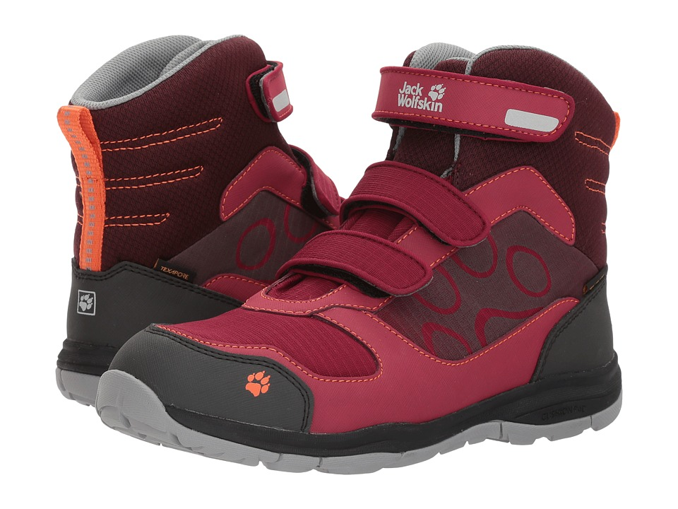 Jack Wolfskin Kids Grivla Waterproof VC High (Toddler/Little Kid/Big Kid) (Dark Ruby) Girls Shoes