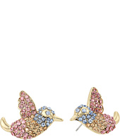 Betsey Johnson - Pave Bird Button Stud Earrings