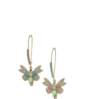 Betsey Johnson - Pave Butterfly Non-Matching Earrings