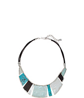 Robert Lee Morris - Mixed Semiprecious Stone Geometric Frontal Necklace