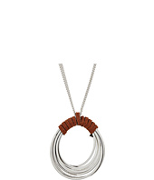 Robert Lee Morris - Suede Wrapped Multi Row Oval Pendant Necklace