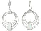 Robert Lee Morris - Geometric Shell Multi Row Gypsy Hoop Earrings
