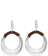 Robert Lee Morris - Suede Wrapped Multi Row Gypsy Hoop Earrings