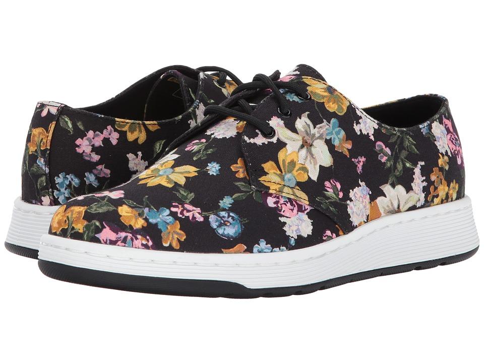 Dr. Martens Darcy Floral Cavendish 3-Eye Shoe (Black Darcy Floral Fine Canvas) Women