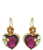 Betsey Johnson - Stone Heart Drop Earrings