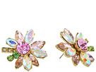 Betsey Johnson - Mixed Stone Flower Stud Earrings