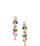 Betsey Johnson - Mixed Stone Linear Earrings