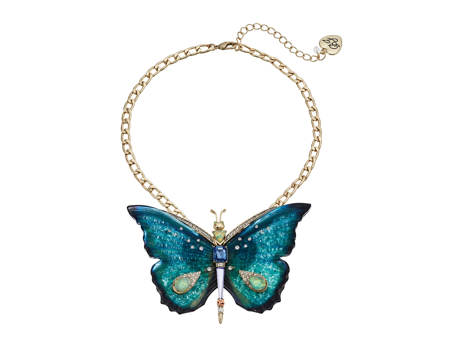 Betsey Johnson Large Butterfly Pendant Necklace - Zappos.com Free Shipping BOTH Ways