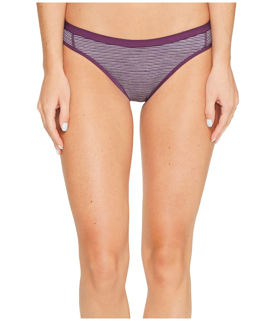 Icebreaker Siren Bikini (Eggplant/Silk Heather/Stripe) Women