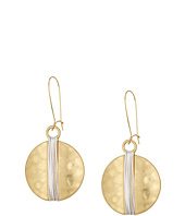 Robert Lee Morris - Two-Tone Wire Wrap Sharp Hook Earrings