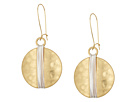 Robert Lee Morris - Two-Tone Wire Wrap Sharp Hook Earrings
