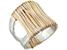 Two-Tone Wire Wrap Ring