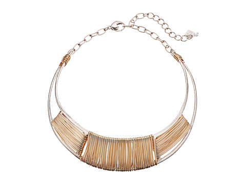 Robert Lee Morris Two-Tone Wire Wrap Collar Necklace - Two-Tone